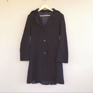 • Mackage • 3 Button Black Long Peacoat Medium